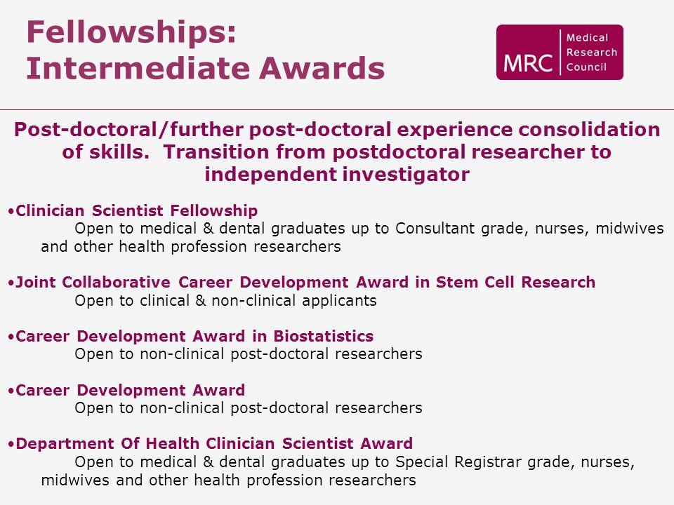 Fellowships: Intermediate Awards
