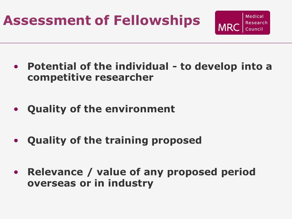 Assessment of Fellowships