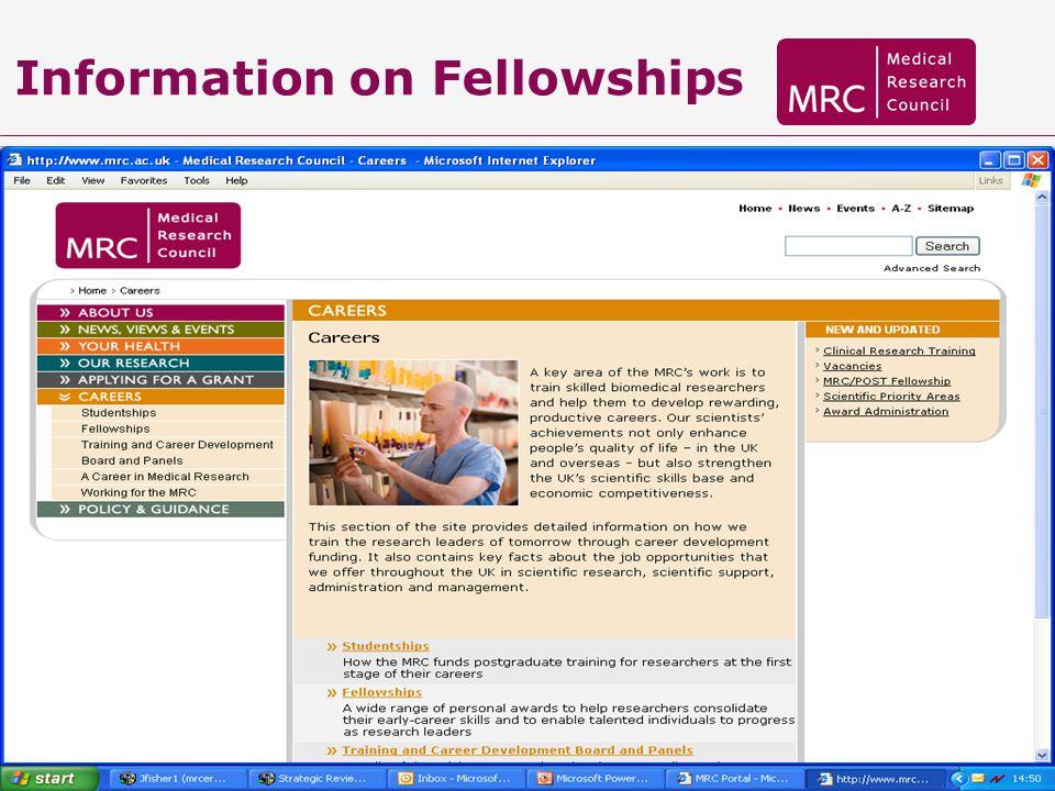 Information on Fellowships
