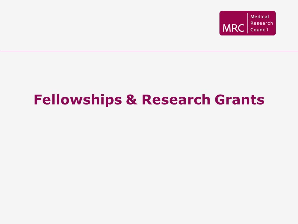 Fellowships & Research Grants