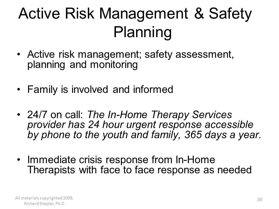 Active Risk Management & Safety Planning