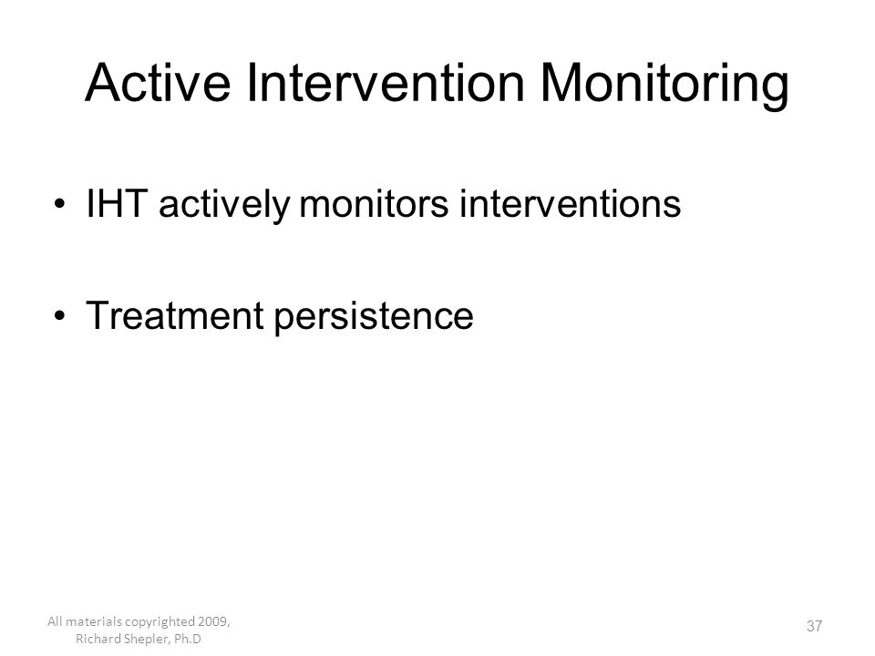 Active Intervention Monitoring