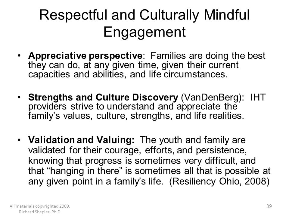 Respectful and Culturally Mindful Engagement