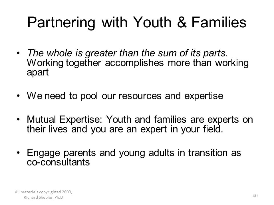 Partnering with Youth & Families