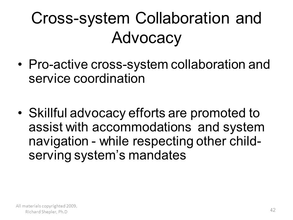 Cross-system Collaboration and Advocacy