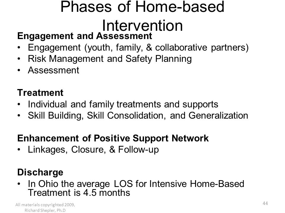 Phases of Home-based Intervention