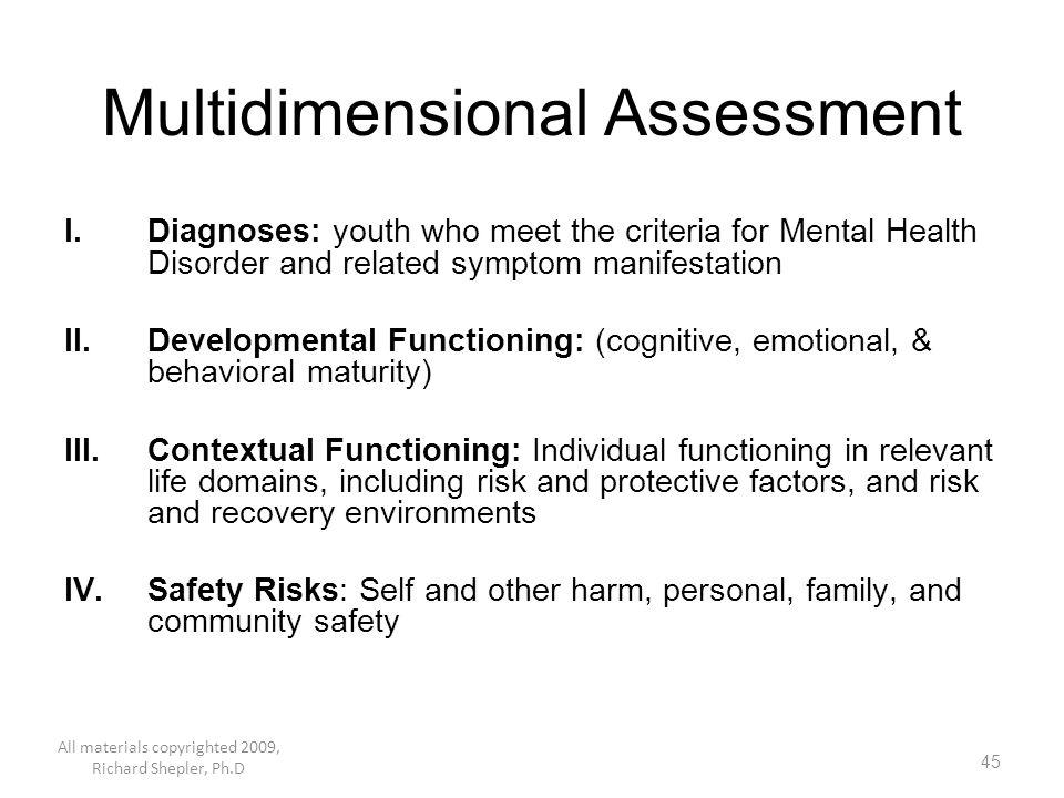Multidimensional Assessment