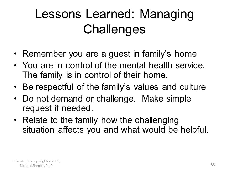 Lessons Learned: Managing Challenges