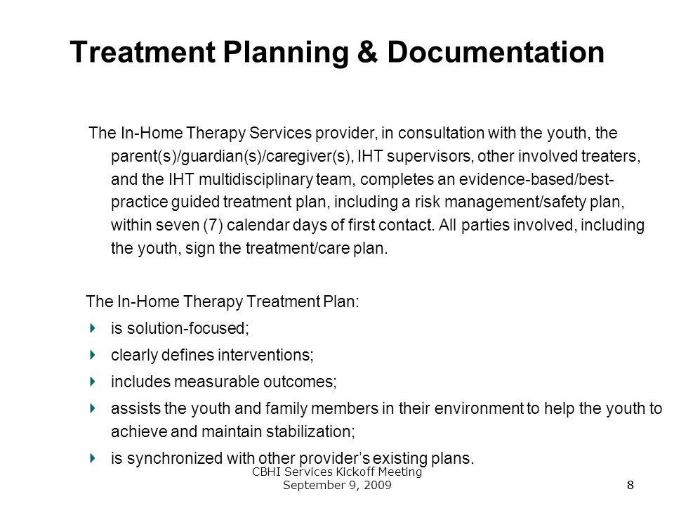 Treatment Planning & Documentation