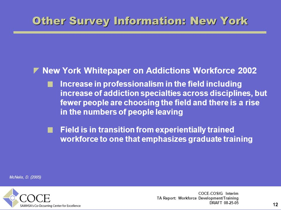 Other Survey Information: New York