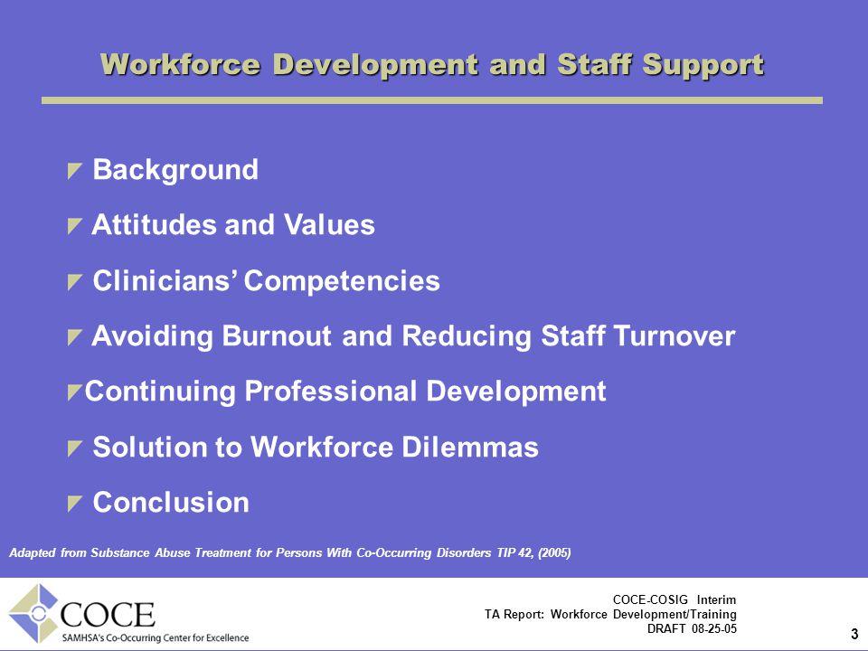 Workforce Development and Staff Support