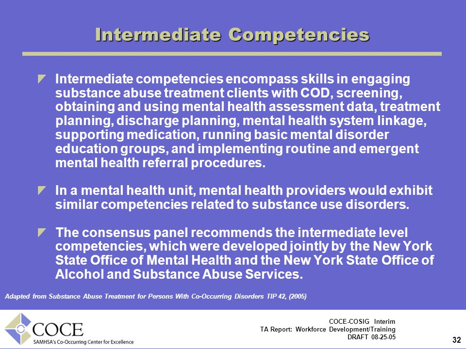 Intermediate Competencies