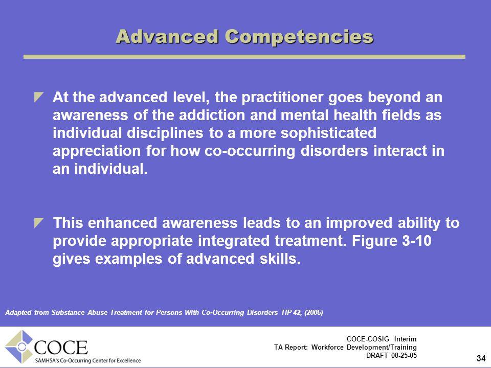 Advanced Competencies