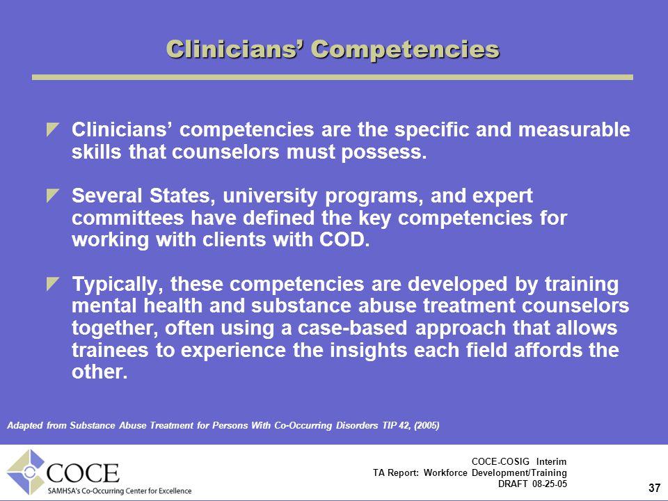Clinicians' Competencies