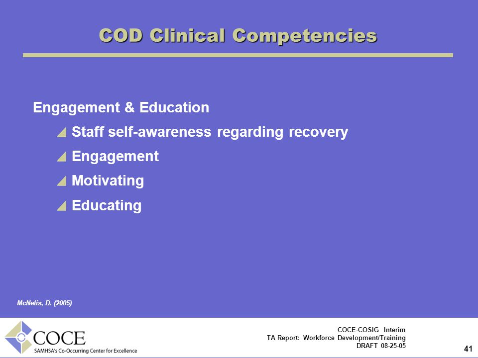 COD Clinical Competencies