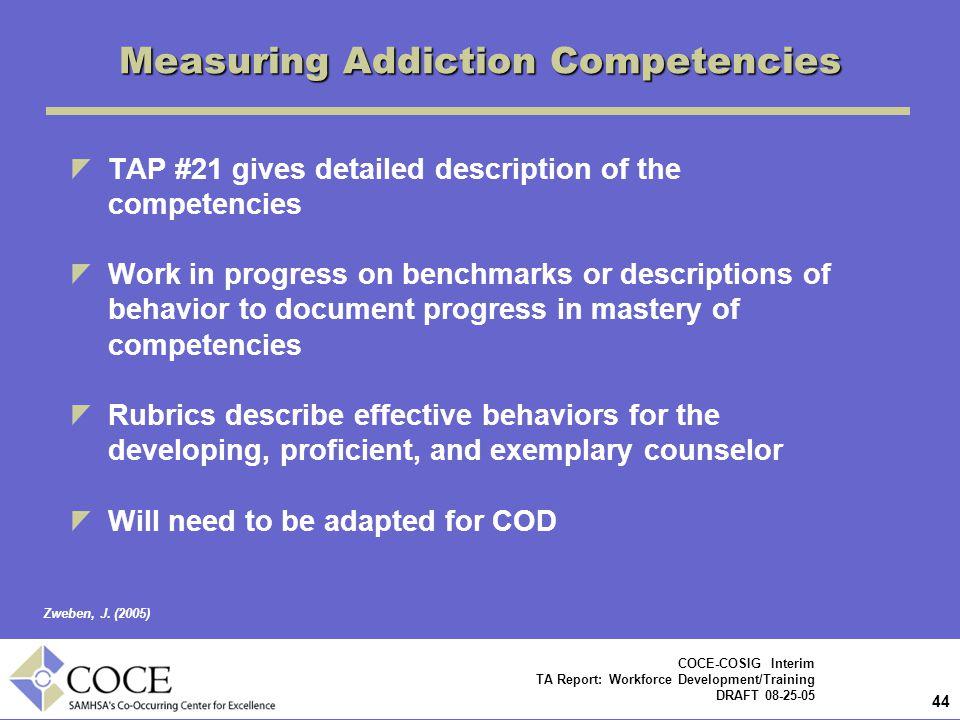 Measuring Addiction Competencies