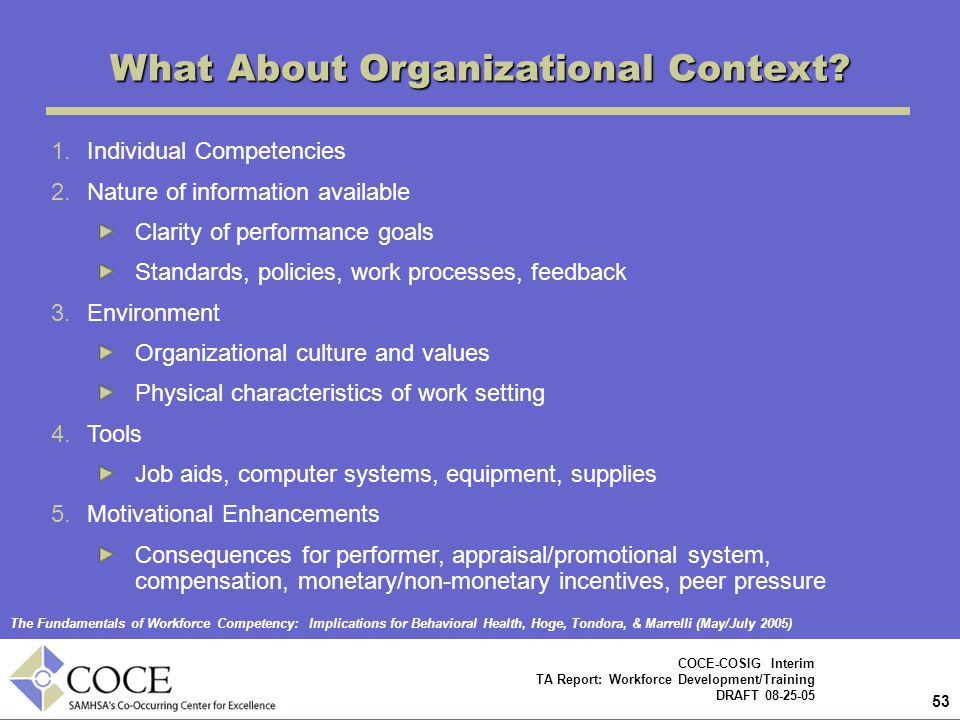 What About Organizational Context