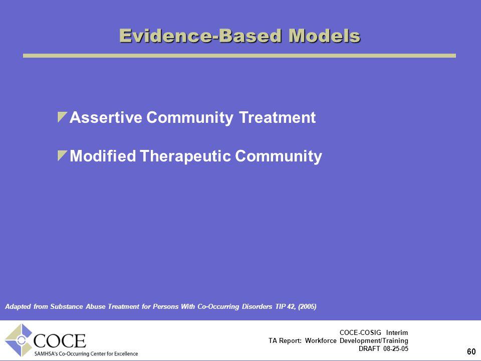 Evidence-Based Models