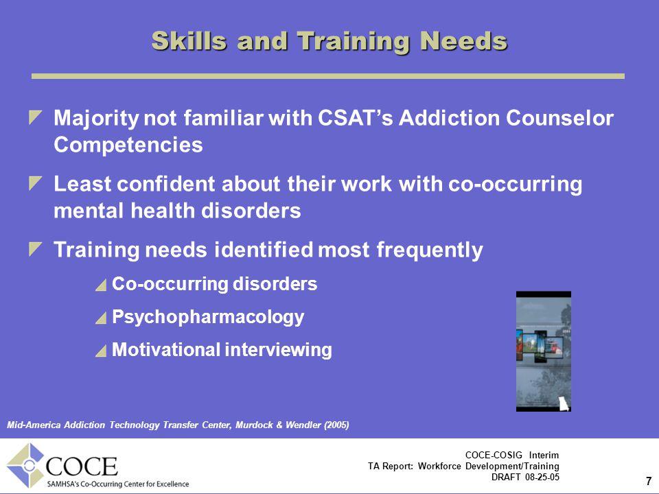 Skills and Training Needs