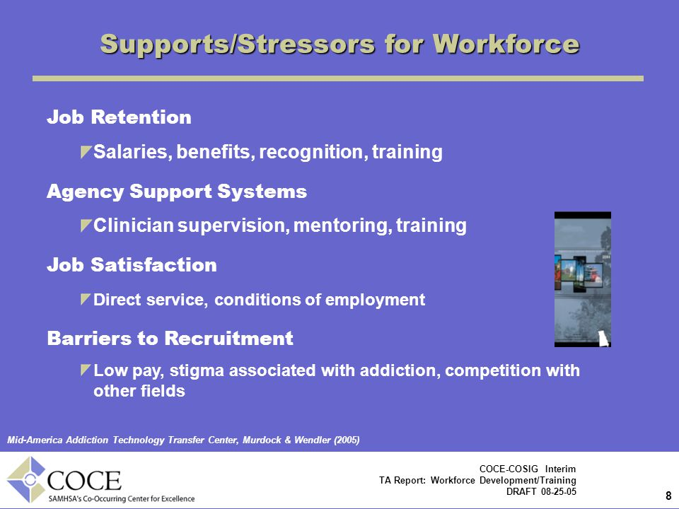 Supports/Stressors for Workforce