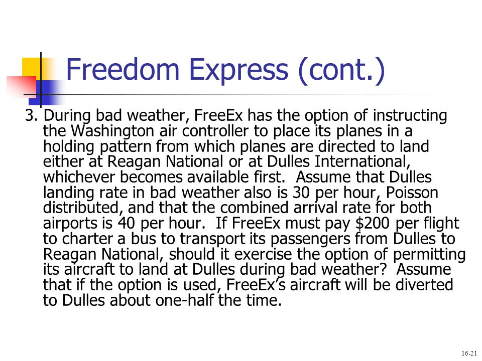 Freedom Express (cont.)