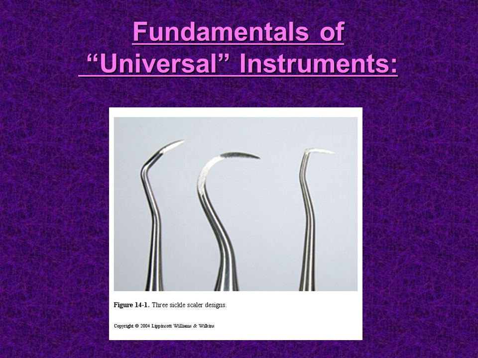 Fundamentals of Universal Instruments: