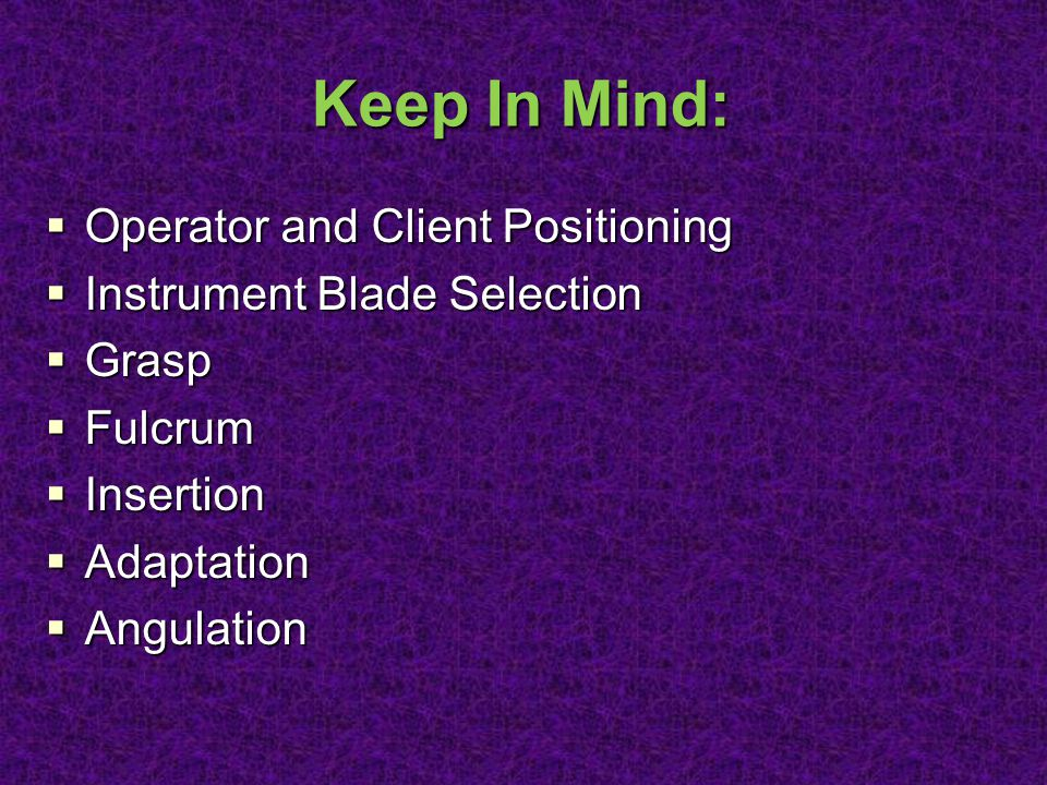 Keep In Mind: Operator and Client Positioning