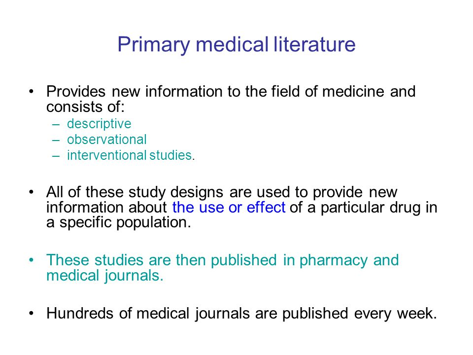 Primary medical literature