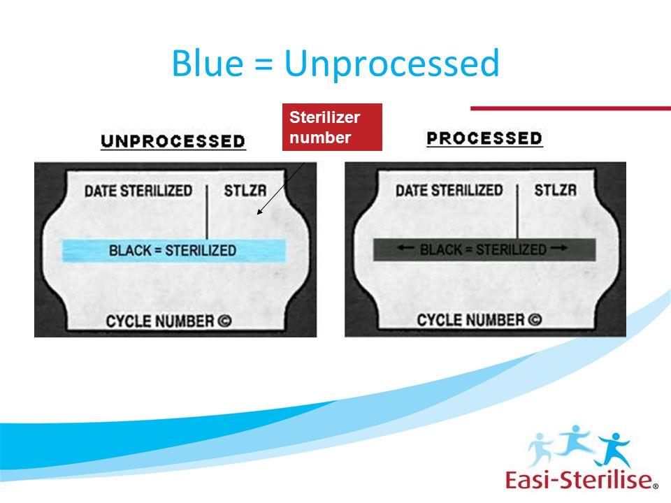 Blue = Unprocessed Sterilizer number 36