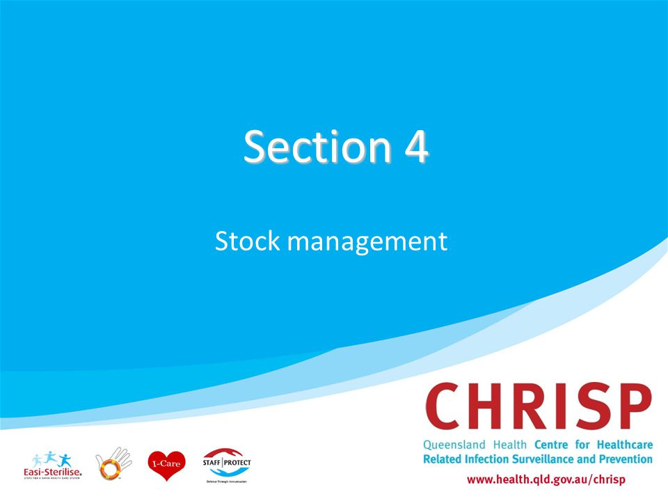 Section 4 Stock management 76