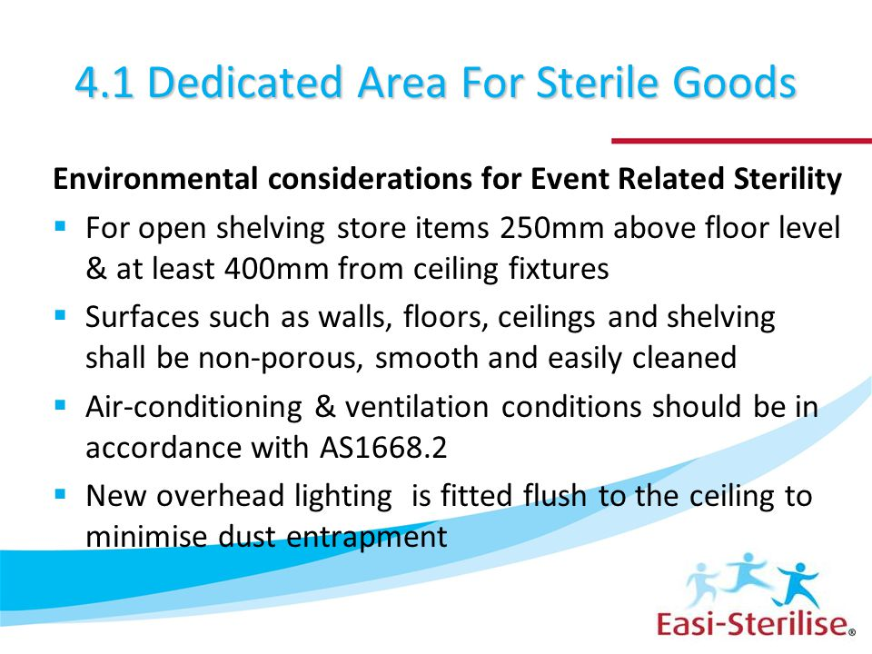 4.1 Dedicated Area For Sterile Goods
