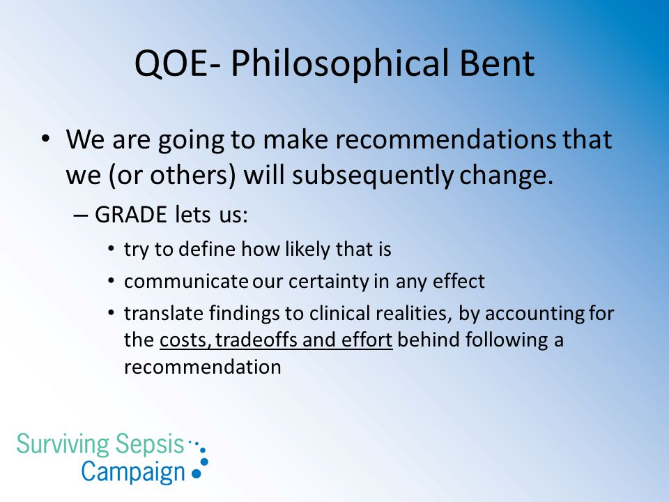 QOE- Philosophical Bent