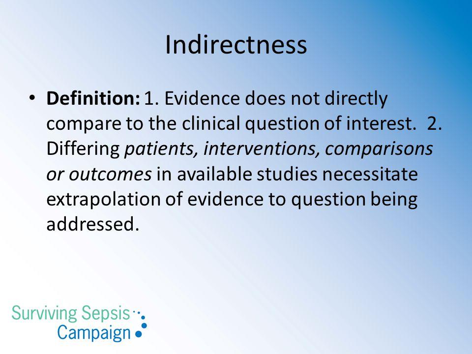 Indirectness