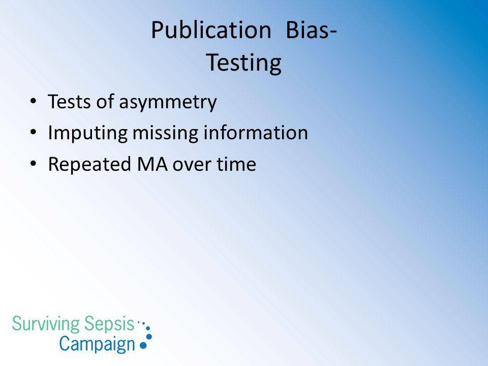 Publication Bias- Testing