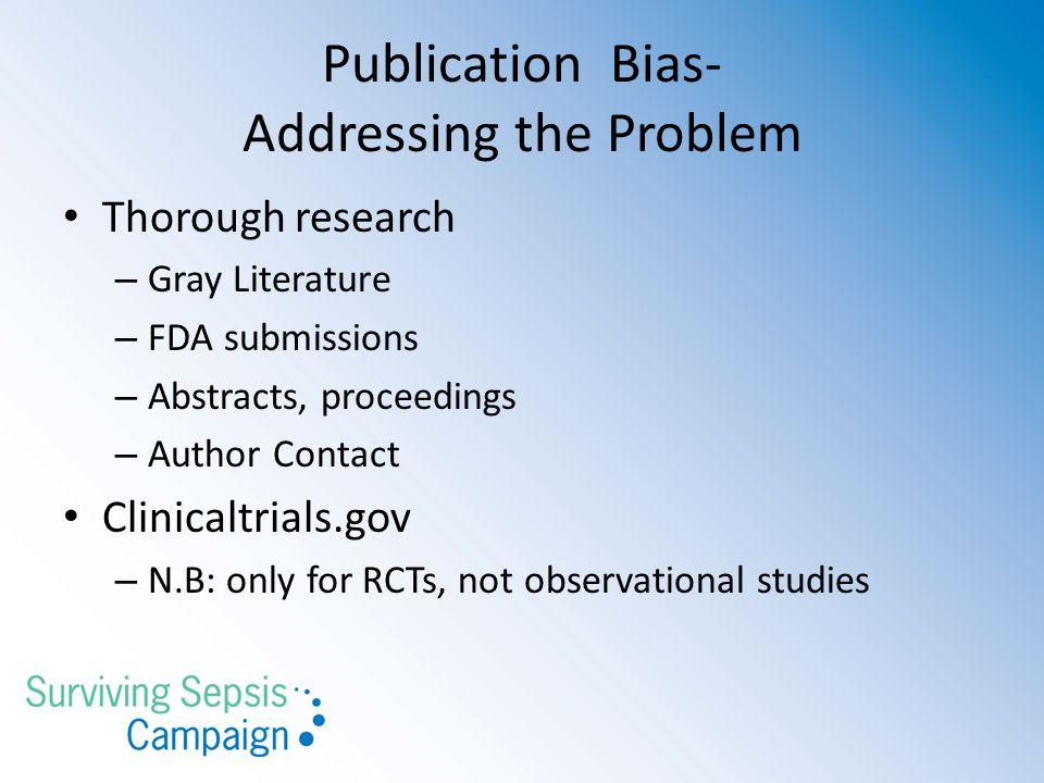Publication Bias- Addressing the Problem