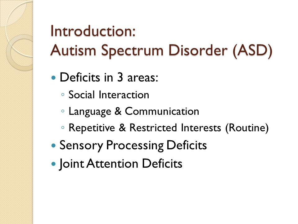Introduction: Autism Spectrum Disorder (ASD)