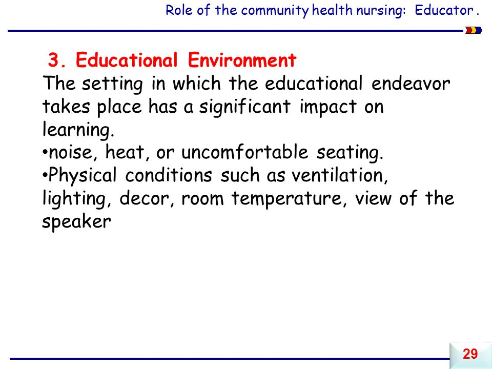 3. Educational Environment