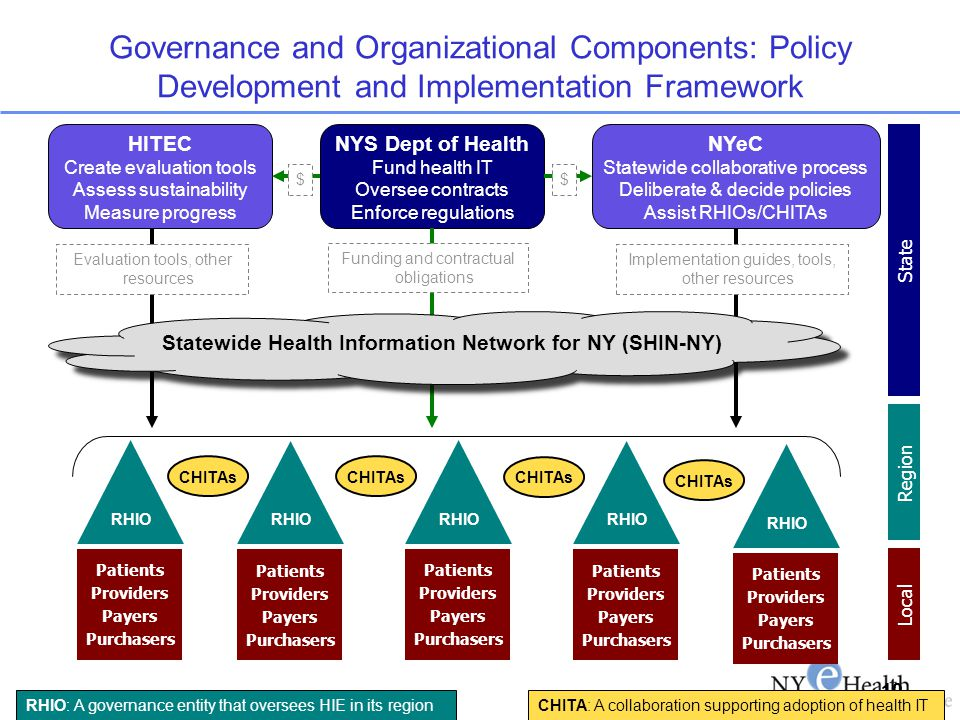 Governance and Organizational Components: Policy Development and Implementation Framework