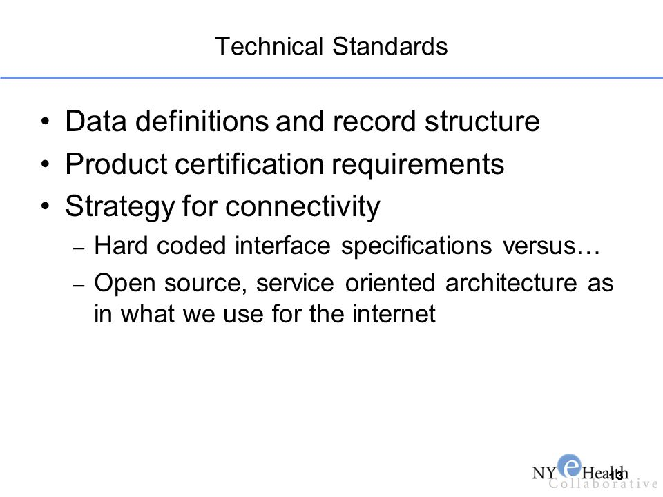 Data definitions and record structure
