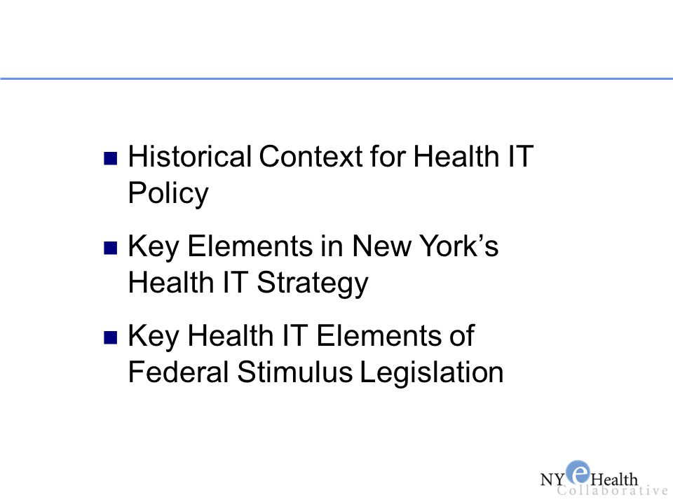 Historical Context for Health IT Policy