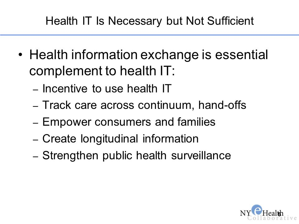 Health IT Is Necessary but Not Sufficient