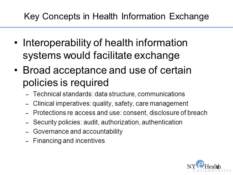 Key Concepts in Health Information Exchange