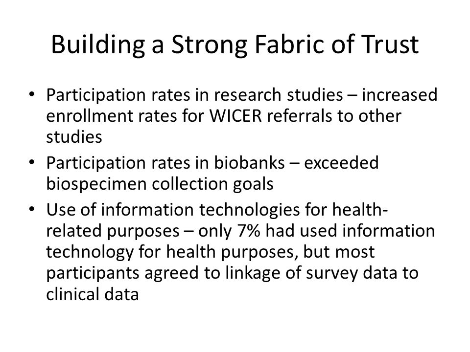 Building a Strong Fabric of Trust