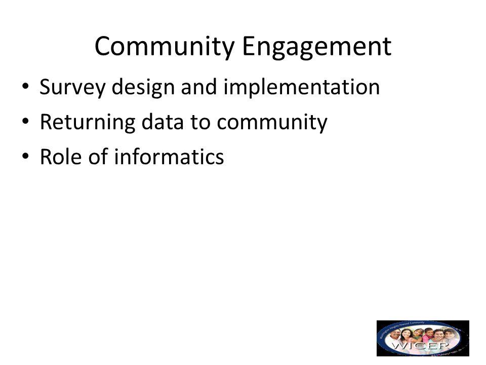 Community Engagement Survey design and implementation