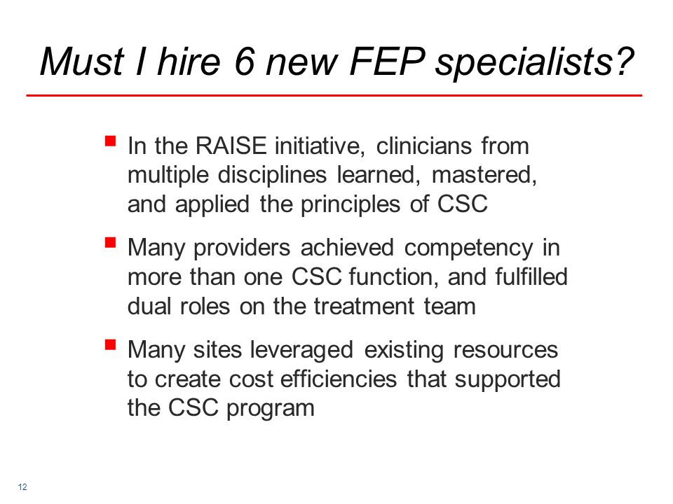 Must I hire 6 new FEP specialists
