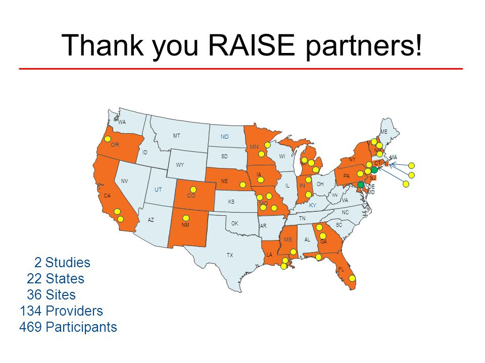 Thank you RAISE partners!