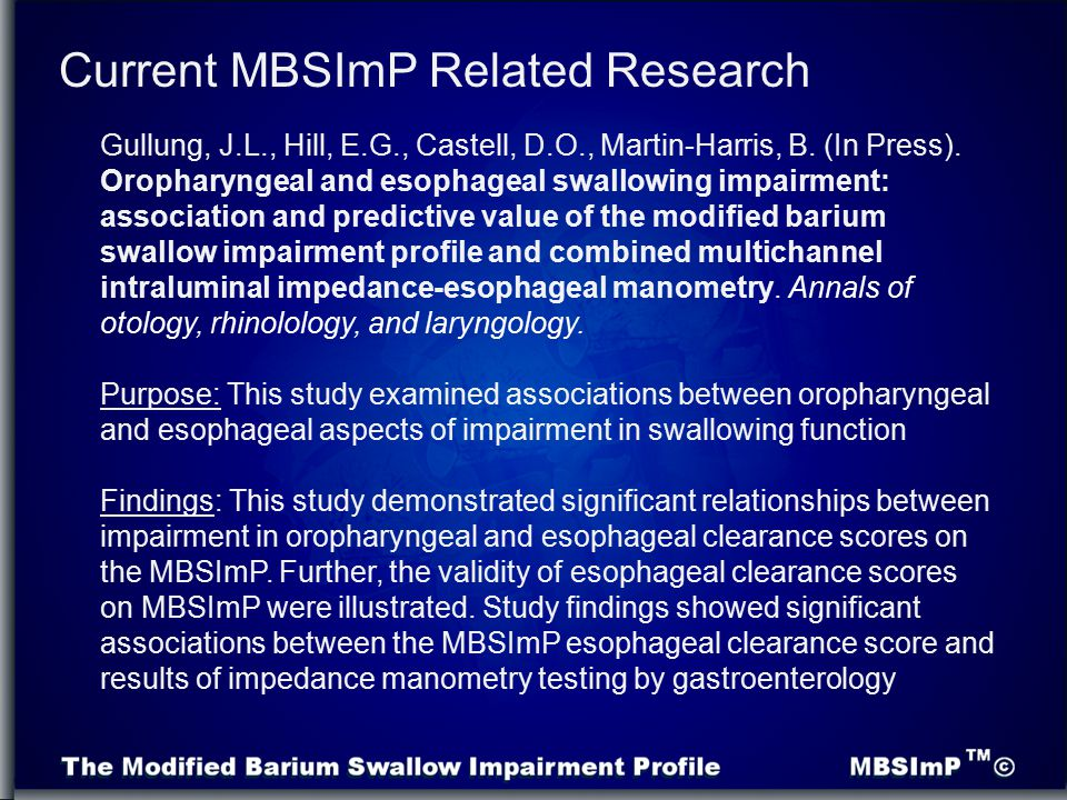 Current MBSImP Related Research
