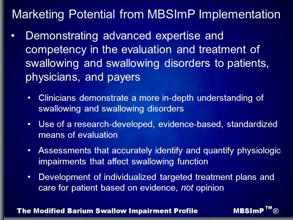 Marketing Potential from MBSImP Implementation