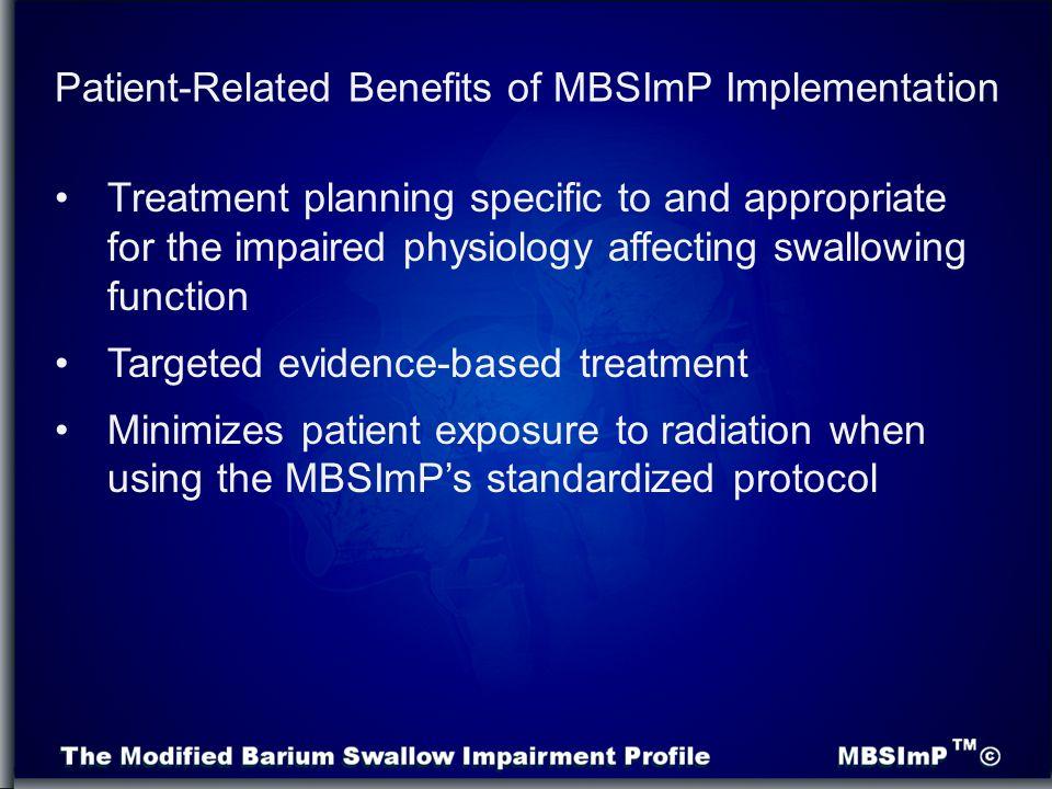 Patient-Related Benefits of MBSImP Implementation