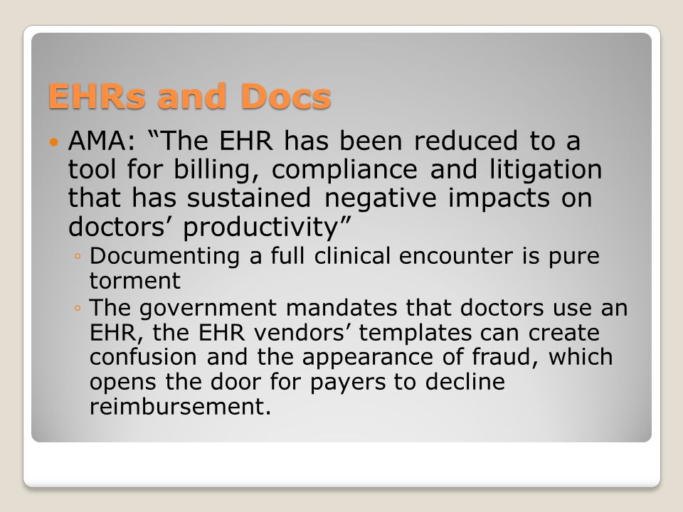 EHRs and Docs
